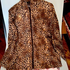 Women's Plus Size Jacket Leopard